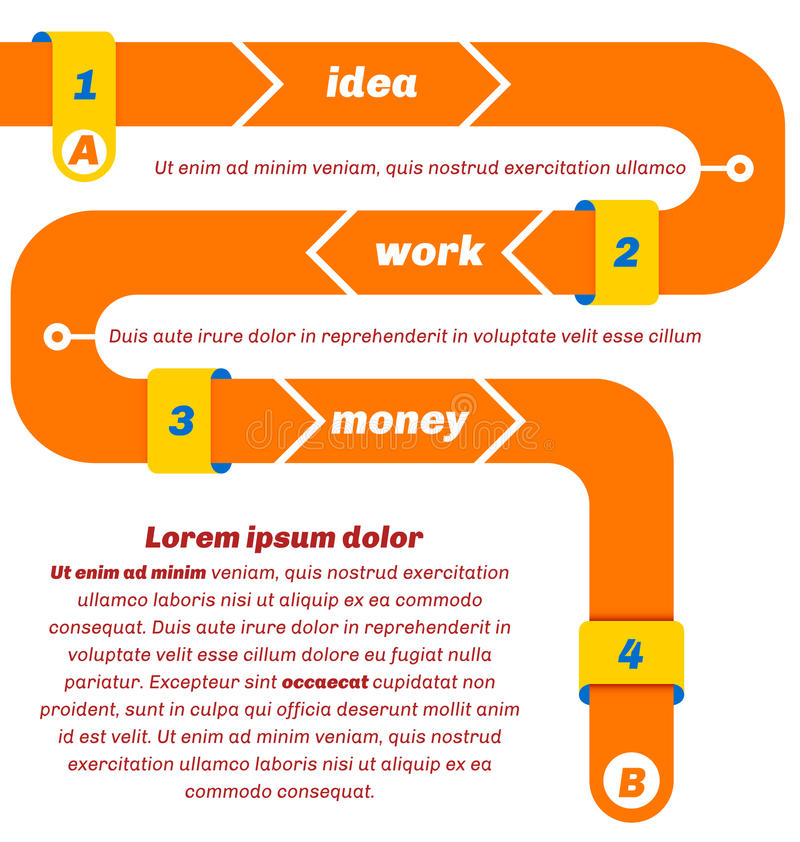Free Snake Like Infographics, From Start To Finish. Stock Image - 50509701