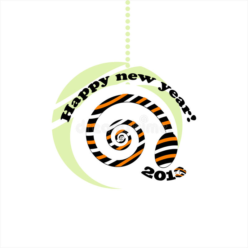 Download Snake new year card 2013 stock vector. Illustration of happiness - 26790642