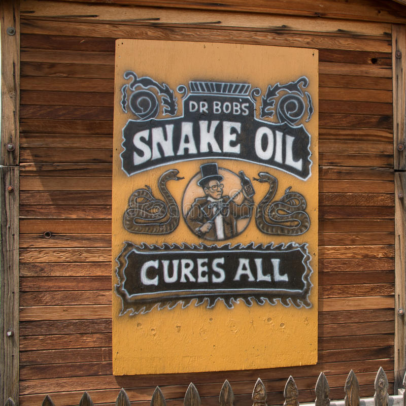 Snake Oil Sign royalty free stock photo