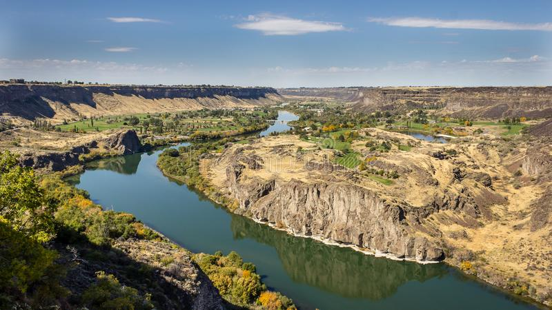 Snake River kanjon royaltyfri fotografi