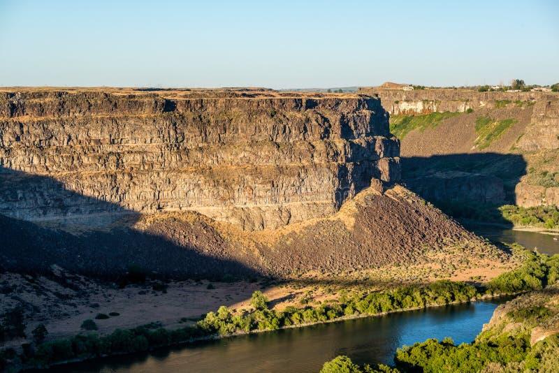 Snake River kanjon nära Twin Falls, Idaho arkivbild