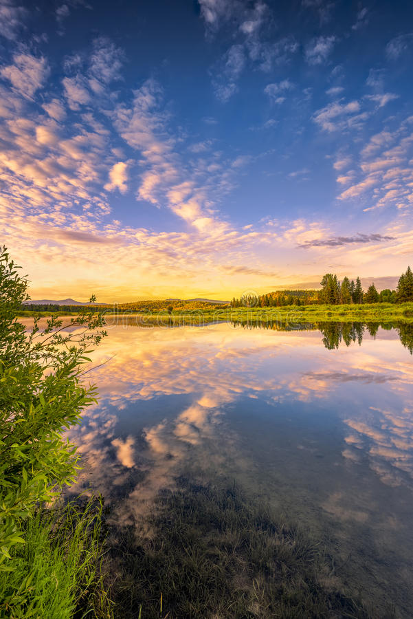 Snake River Sunrise royalty free stock photography