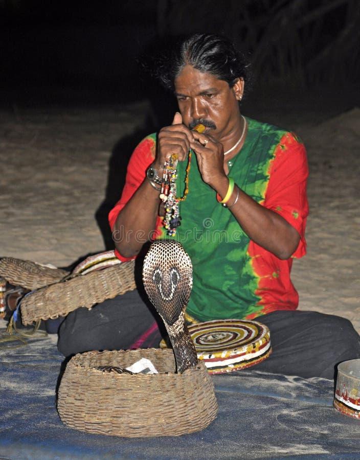 Snake show in Sri Lanka royalty free stock photos
