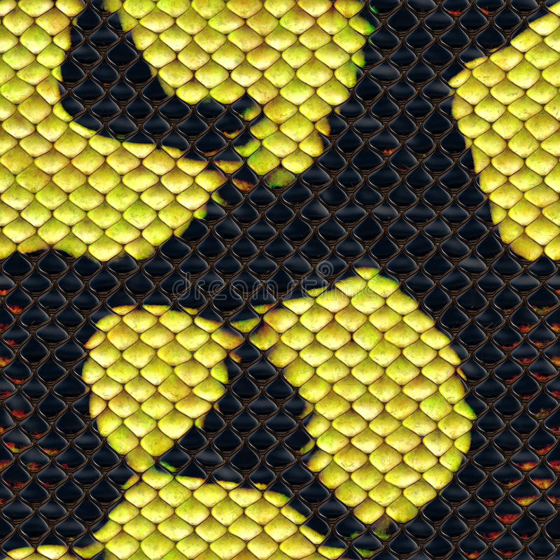 Snake skin. Artificial seamless background royalty free stock image