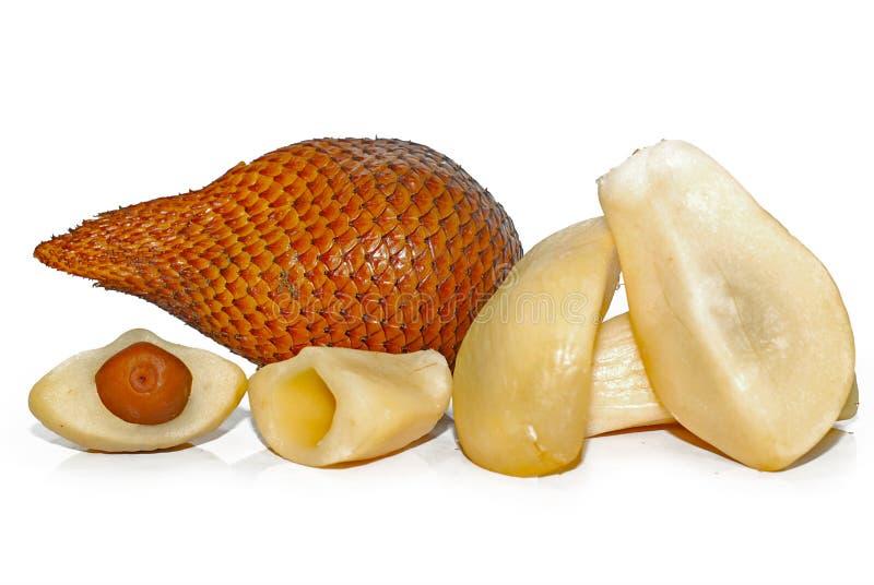 Snake skin fruit on white background. Snake skin fruit  on white background royalty free stock photos