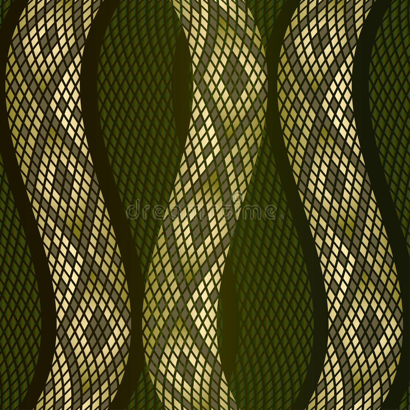 Snake skin pattern. Vector illustration of snake skin royalty free illustration