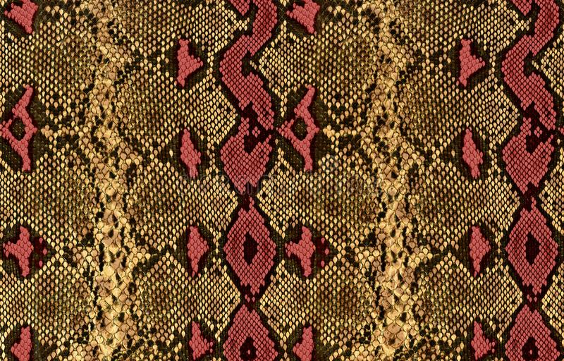 Snake skin pattern texture repeating seamles royalty free stock photo