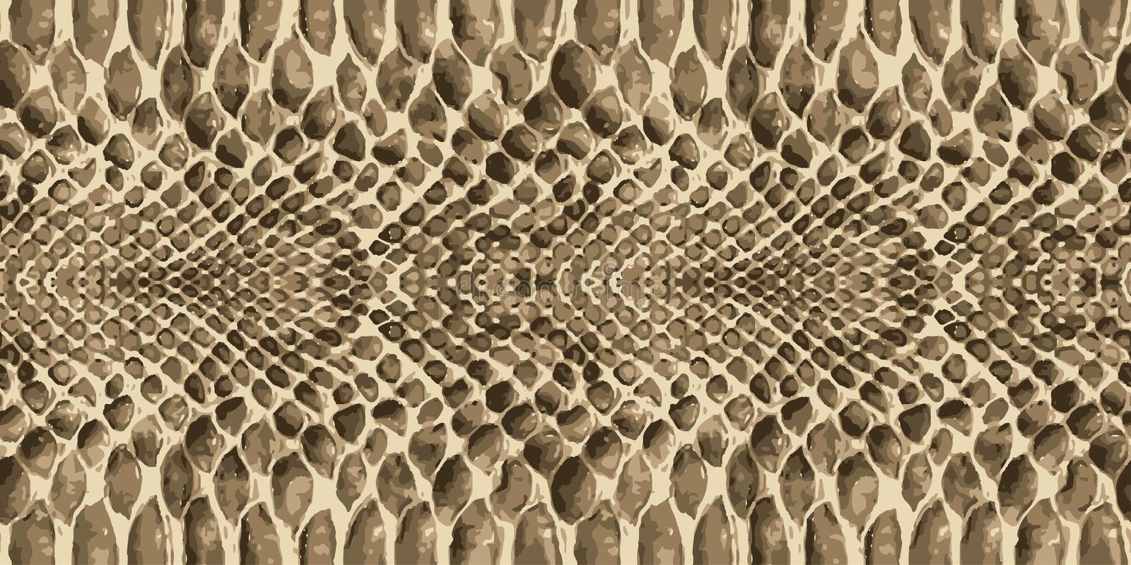 Snake skin pattern texture repeating seamless. Vector. Texture snake. Fashionable print. royalty free illustration