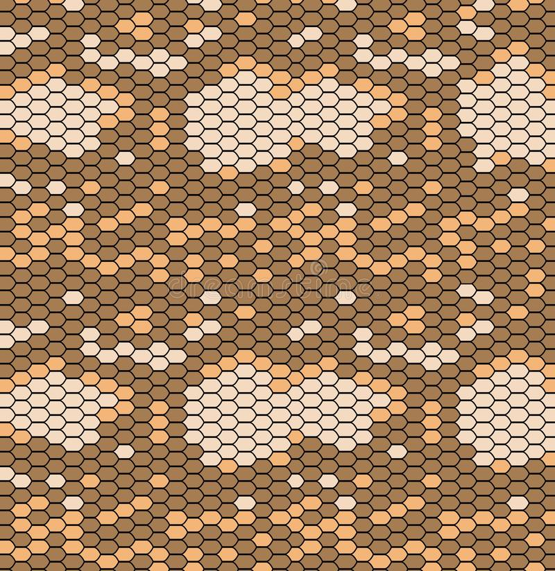 Snake skin pattern in vintage style, reptile texture. Animal print. Can be used for fabrics, wallpapers, scrap-booking. Ornamental template for design and royalty free illustration