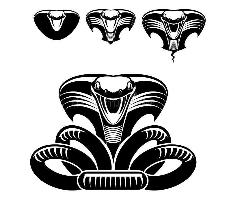Snake tattoo stock photo