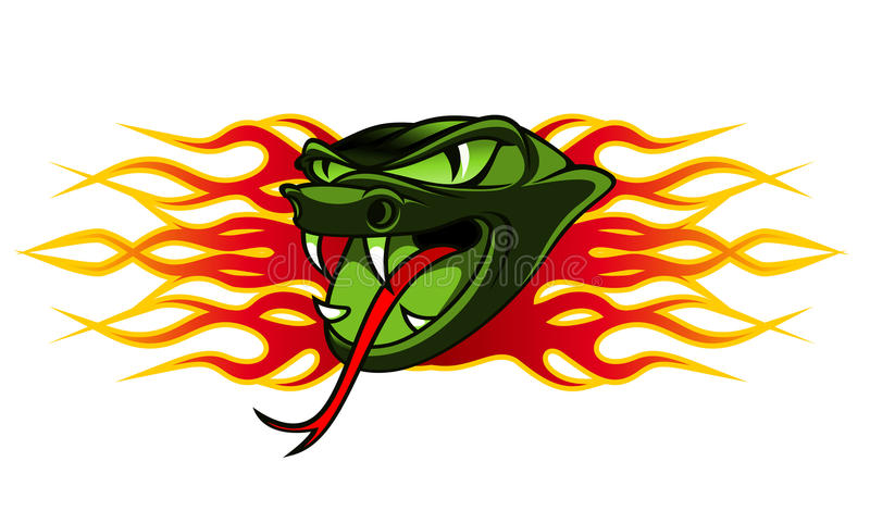 Snake tattoo royalty free stock photos
