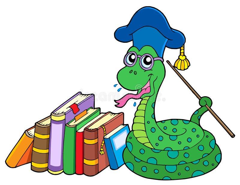Download Snake teacher with books stock vector. Illustration of cobra - 7426620