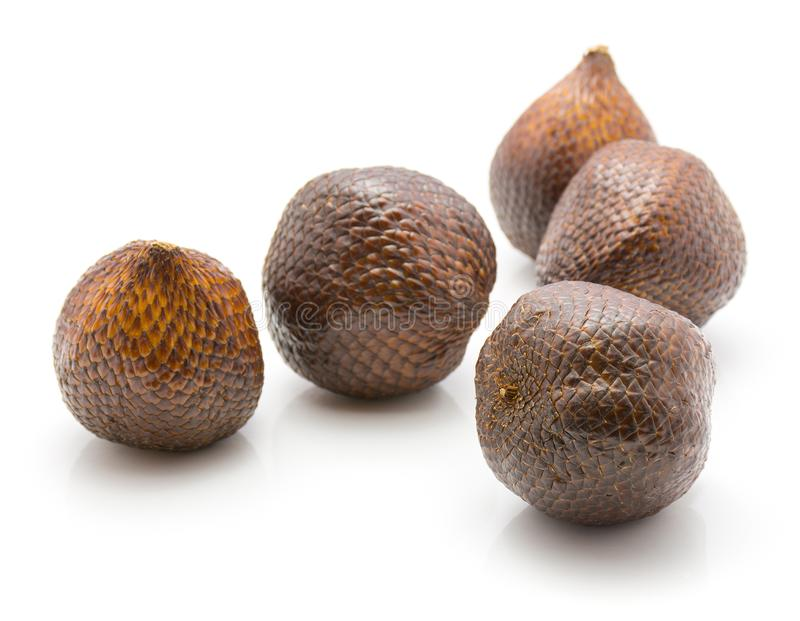 Snakefruit de Salak aislado fotos de archivo