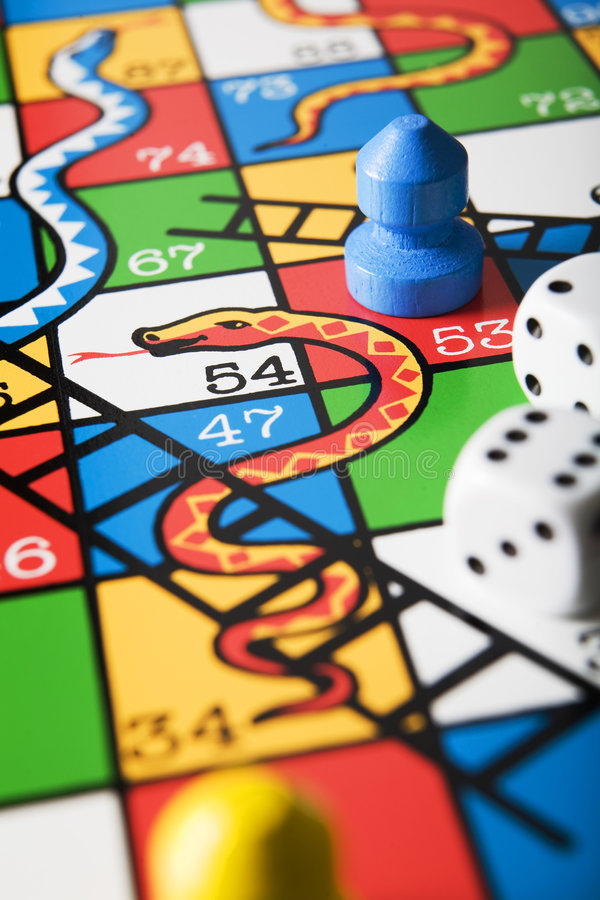 Snakes and Ladder Board royalty free stock photos