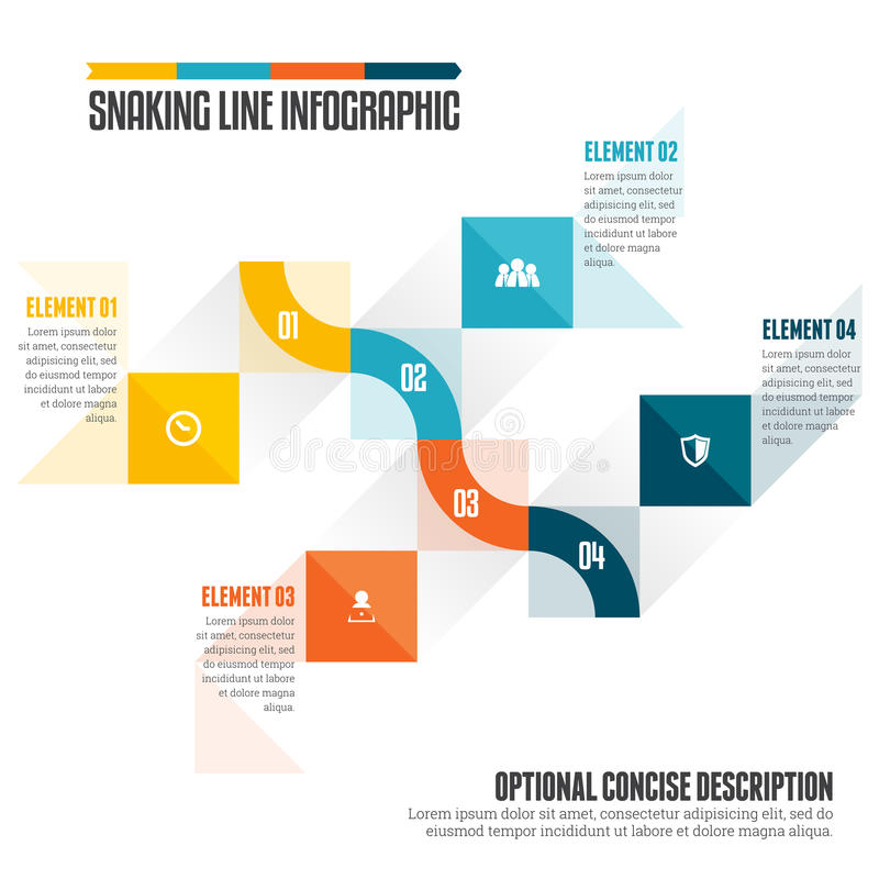 Snaking Line Infographic royalty free illustration