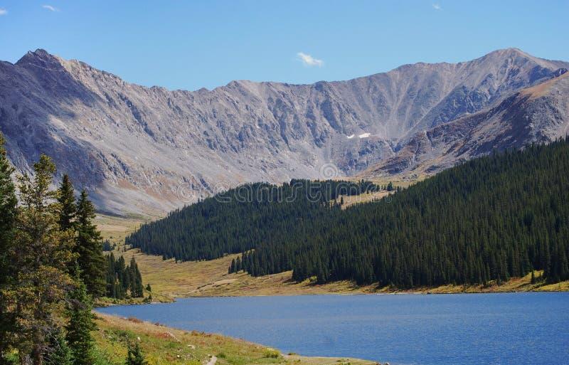 Snakt Piek van Estes Park, Colorado wordt bekeken dat royalty-vrije stock afbeeldingen