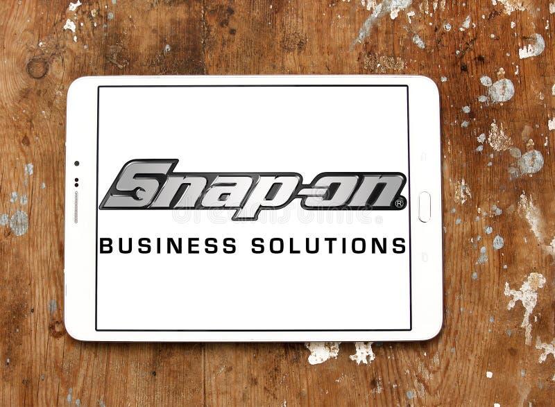 Snap-on λογότυπο επιχείρησης στοκ εικόνα με δικαίωμα ελεύθερης χρήσης