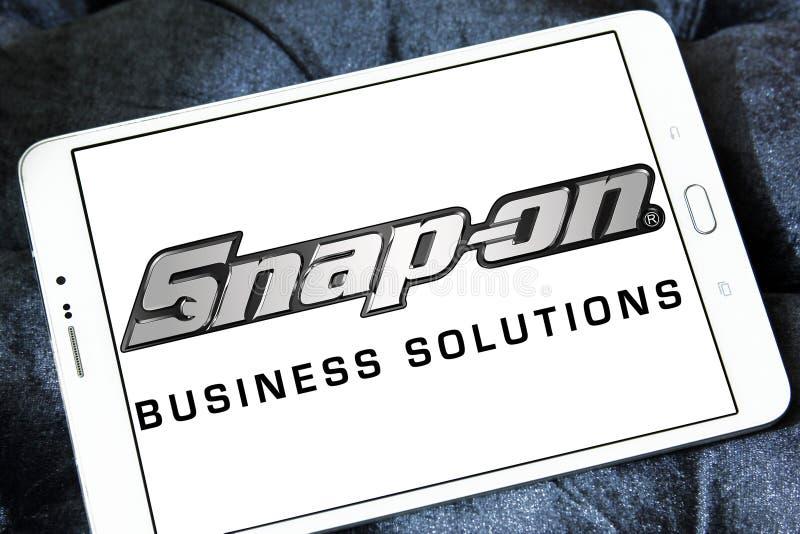 Snap-on λογότυπο επιχείρησης στοκ φωτογραφία