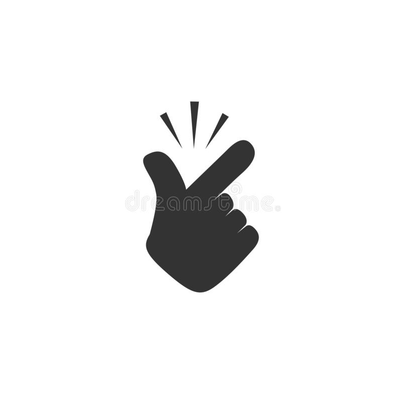 Snap finger icon in simple design. Vector illustration vector illustration