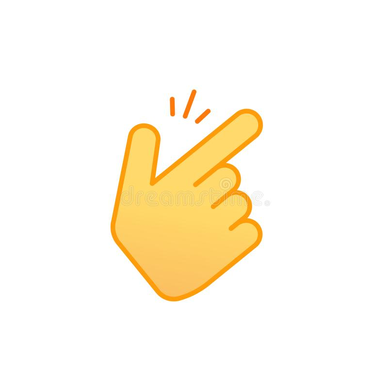 Snap fingers vector icon, line outline art snapping thumbs gesture emoticon symbol isolated on white, finger click. Signal stock illustration