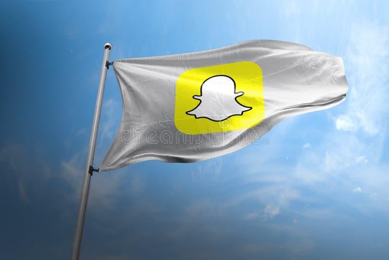 Snapchat照片拟真的旗子社论 库存照片
