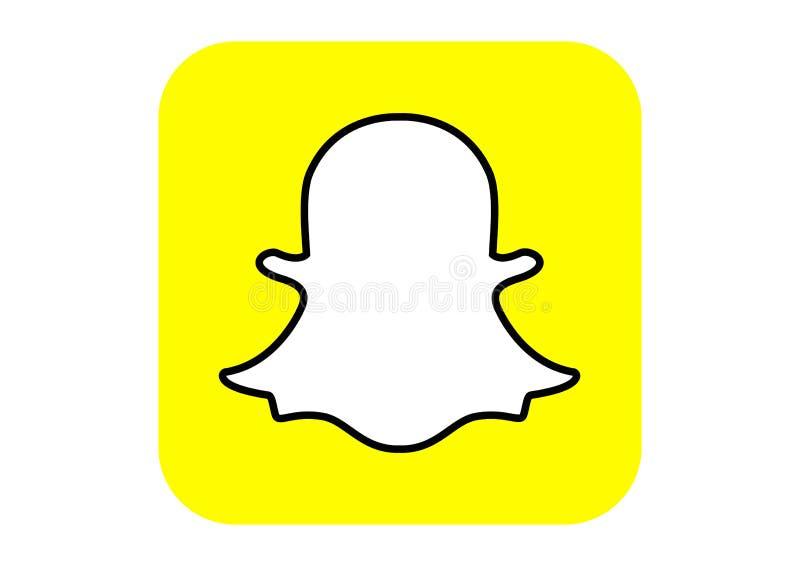 Snapchat社会媒介商标 向量例证