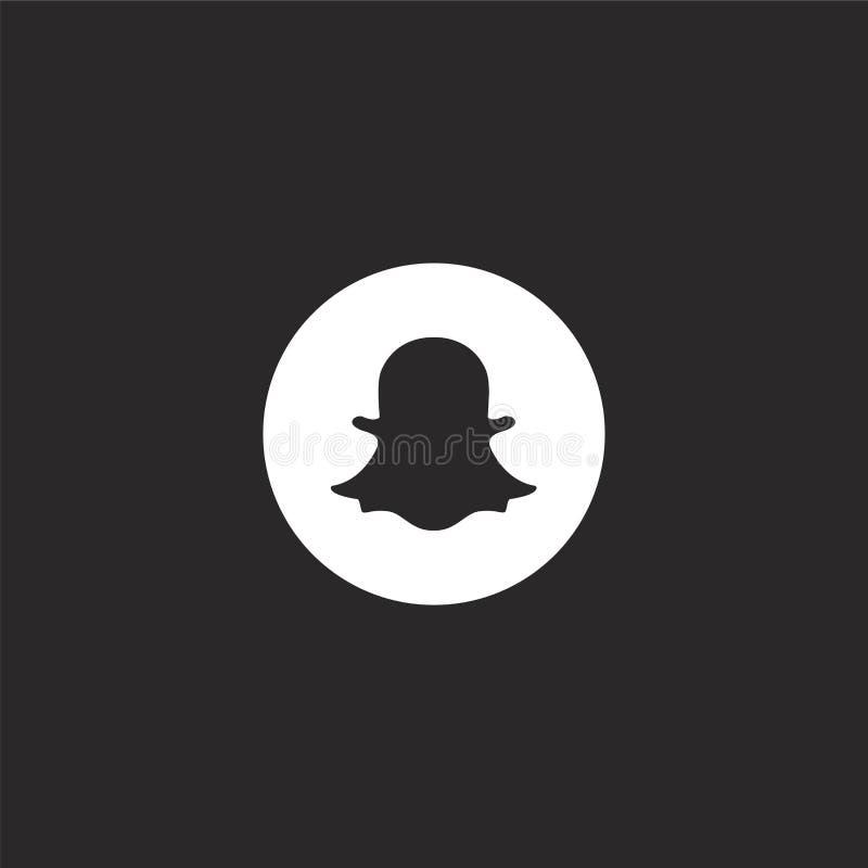 snapchat εικονίδιο Γεμισμένο snapchat εικονίδιο για το σχέδιο ιστοχώρου και κινητός, app ανάπτυξη snapchat εικονίδιο από τα γεμισ ελεύθερη απεικόνιση δικαιώματος