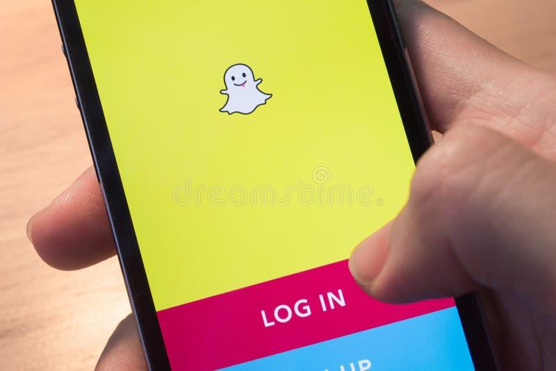 Snapchat immagini stock libere da diritti