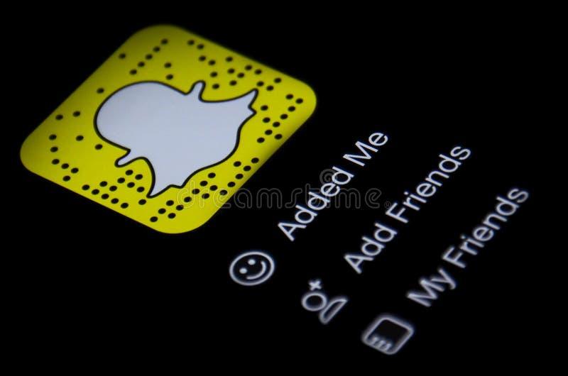Snapchat app stock photo