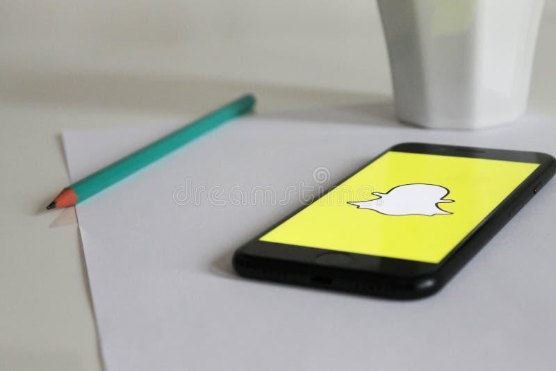 Snapchat App On Smartphone Free Public Domain Cc0 Image