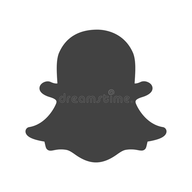 Snapchat royalty free stock photo