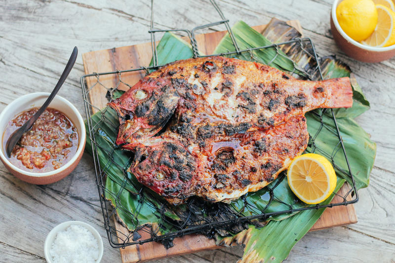 Snapper Grilled royalty free stock image