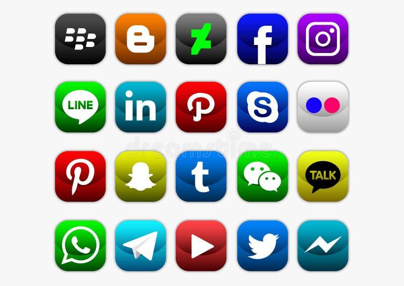 Social media apk icon. Vector design of mobile application logo
