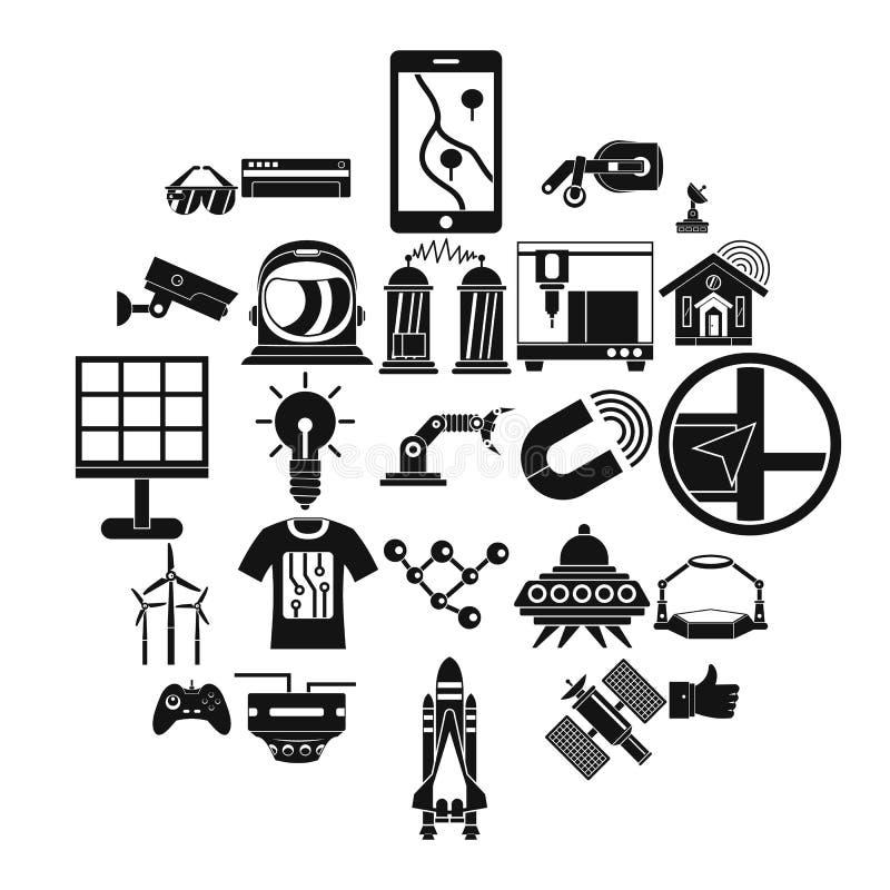 Snar framtidsymbolsuppsättning, enkel stil vektor illustrationer