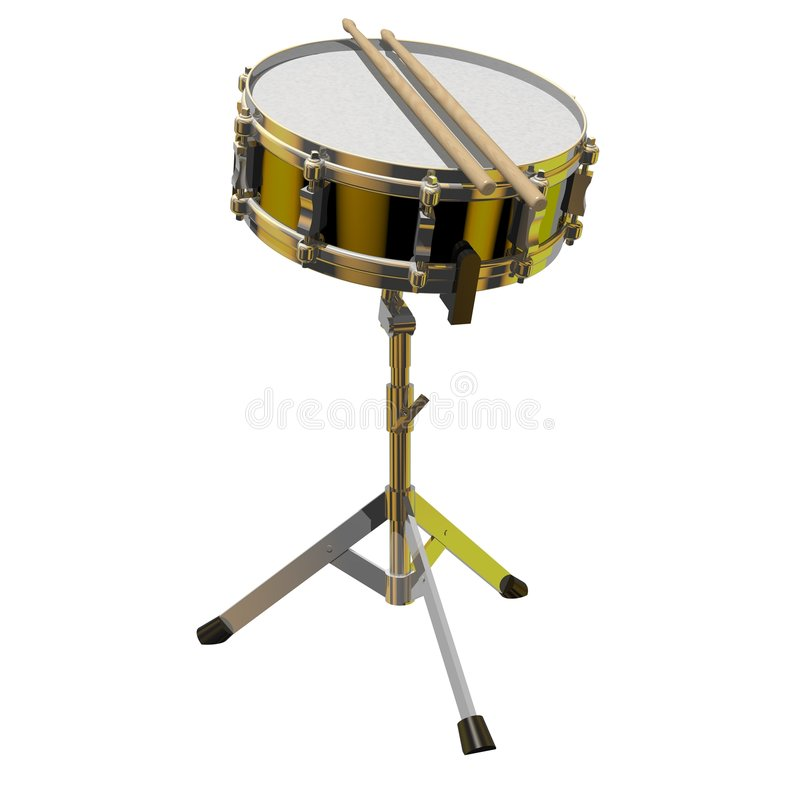 Download Snare Drum stock illustration. Illustration of loud, band - 6972434