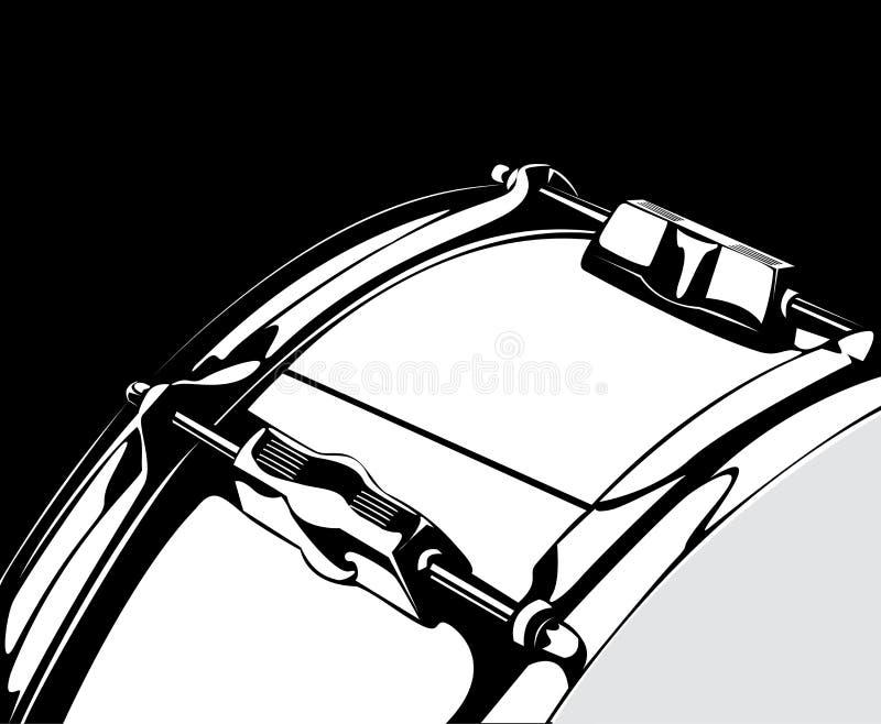 Snare Drum Black-white Version Royalty Free Stock Photo