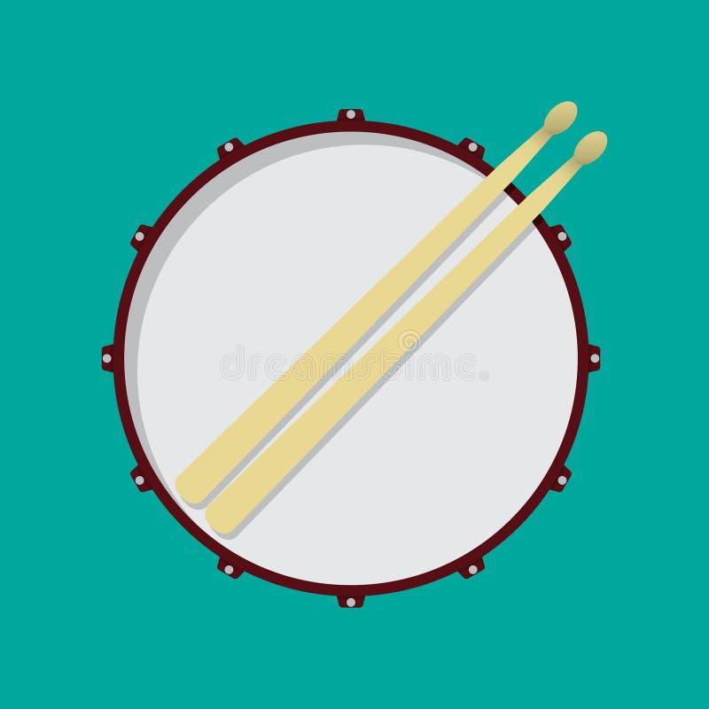 Snare drum stock illustration