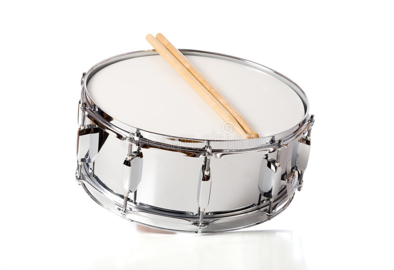 Snare Drum Set with Sticks stock image
