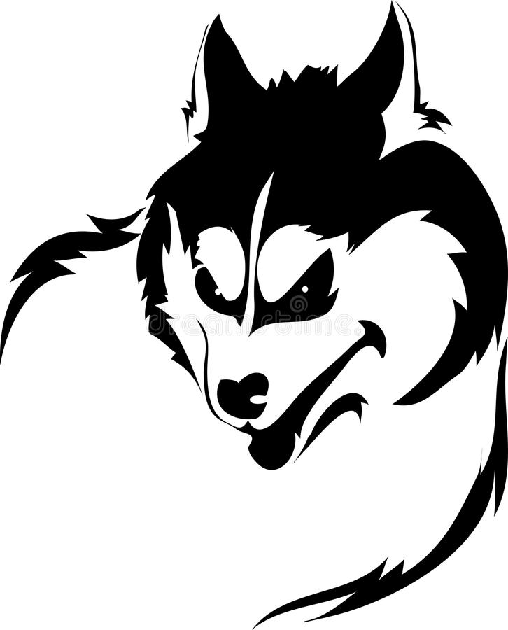 Download Snarling wolf stock vector. Image of stylized, snarling - 33222889