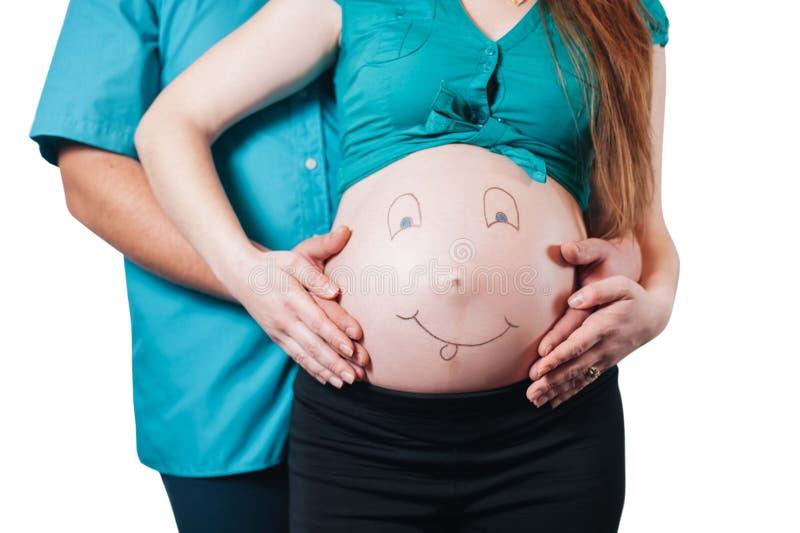 Snart att vara moder och fader royaltyfria foton