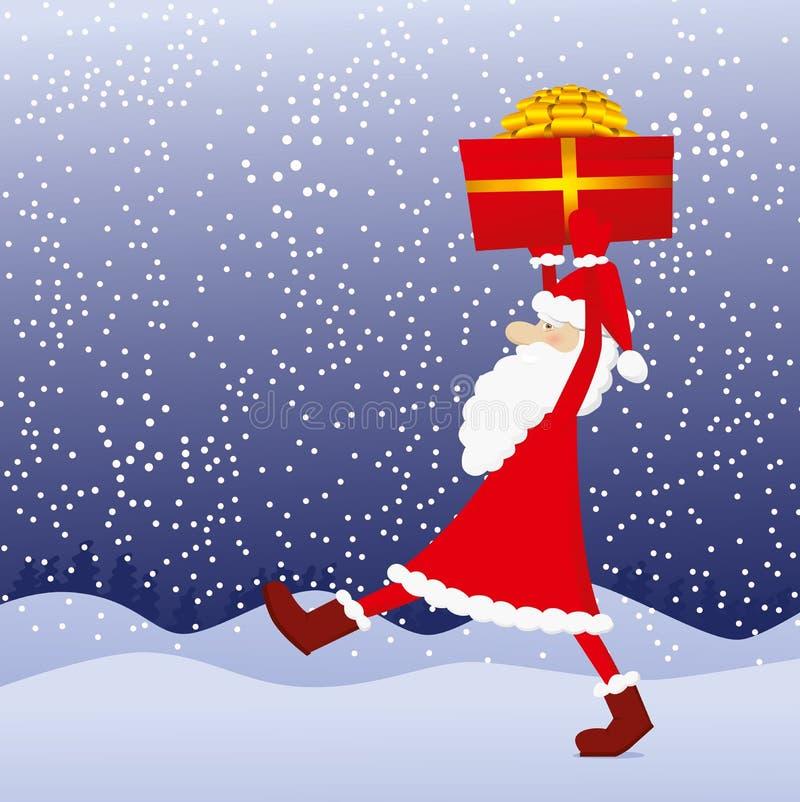 snata δώρων Claus διανυσματική απεικόνιση