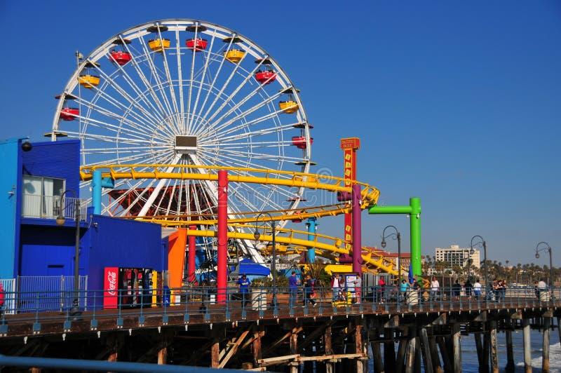 Snata Monica molo - Pacyfik parka Ferris koło obrazy royalty free
