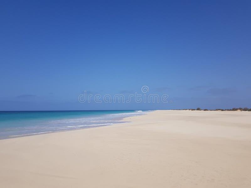 Snata Monica plaża, boa vista, przylądek Verde zdjęcia royalty free