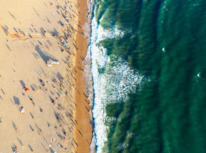 Snata Monica plaża od above obrazy stock