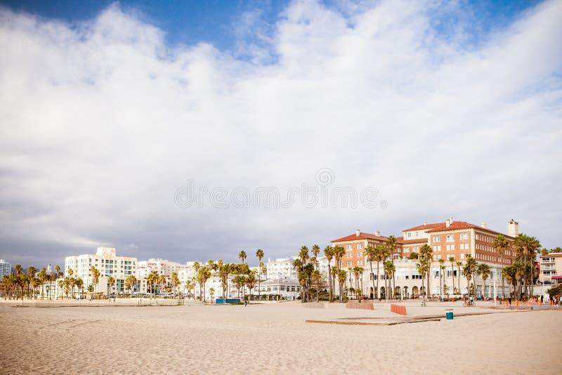 Snata Monica plaży przód obrazy royalty free
