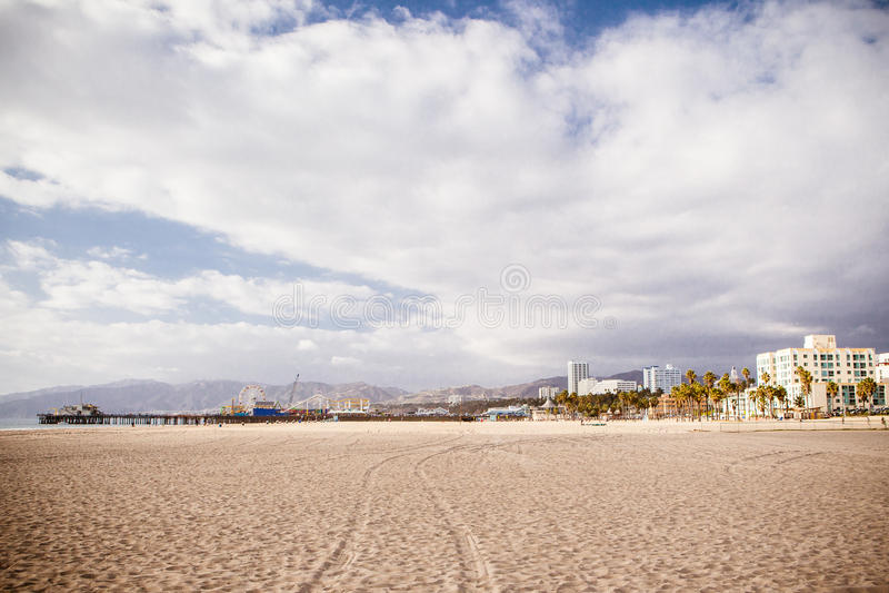Snata Monica plaży przód fotografia royalty free