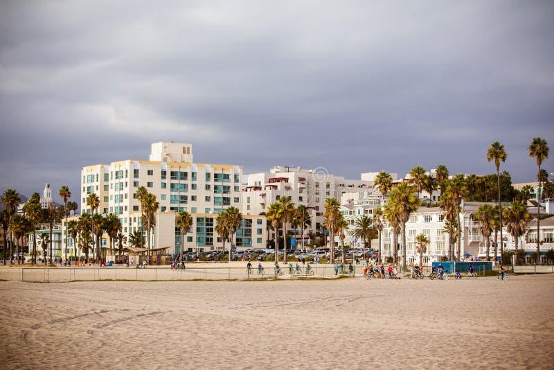 Snata Monica plaży przód zdjęcia royalty free