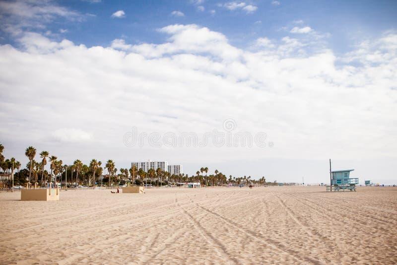 Snata Monica plaży przód zdjęcie royalty free