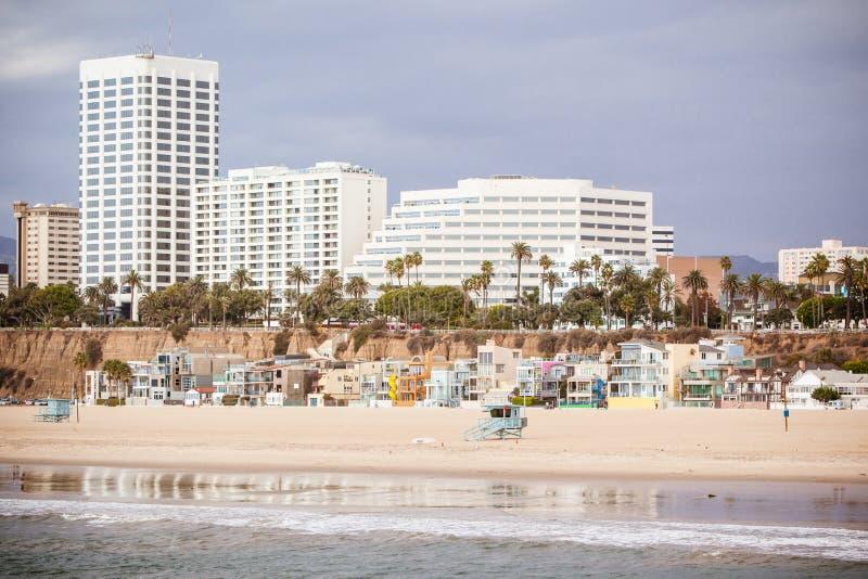 Snata Monica plaży przód zdjęcia stock