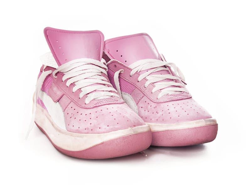 Sneake de mode du sport des femmes de dames roses photos stock